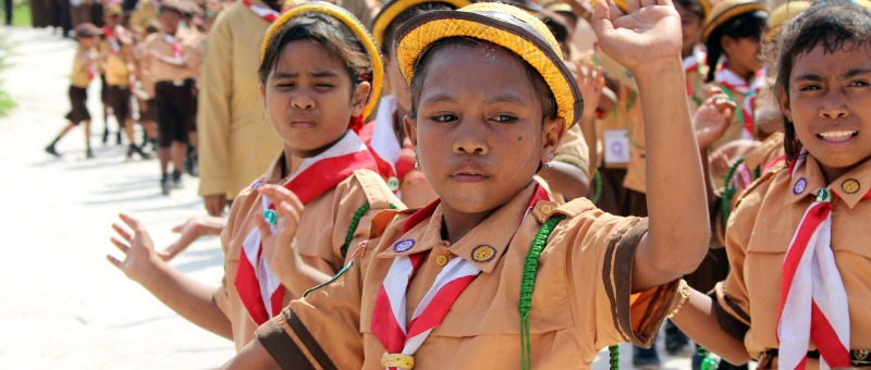 Children activities in primary education in Indonesia