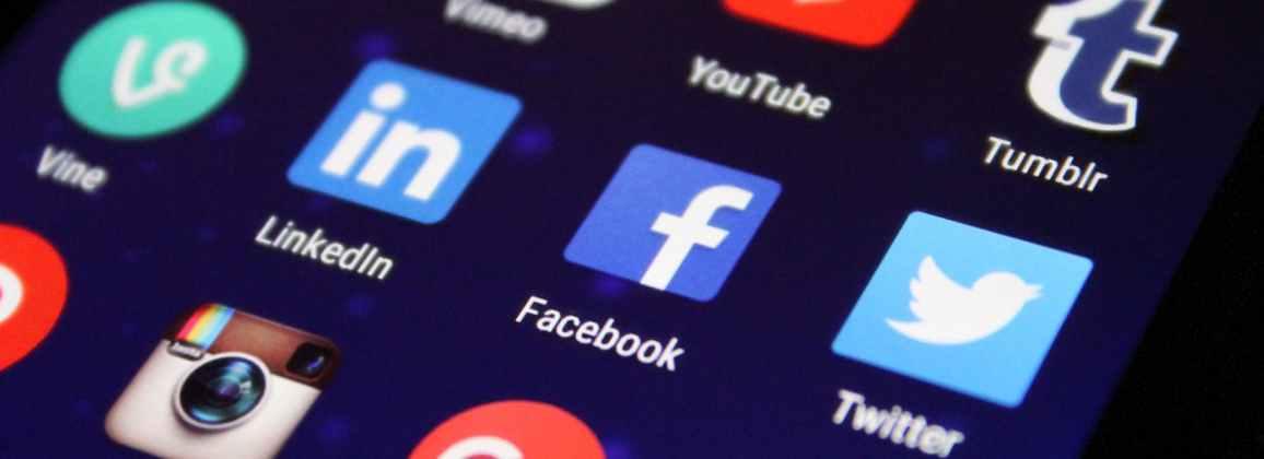 Social media platforms on smartphone